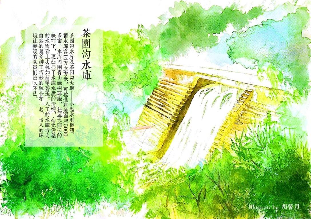 实践队手绘作品——茶园沟水库
